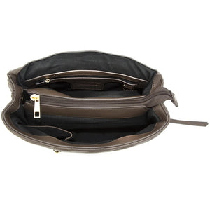 Interior picture of Ceres Concealed Carry Clutch/Crossbody. Concealed Carry Compartment in Center of purse. Accessible from interior of purse . CCW Purse is for Left or Right Handed Users