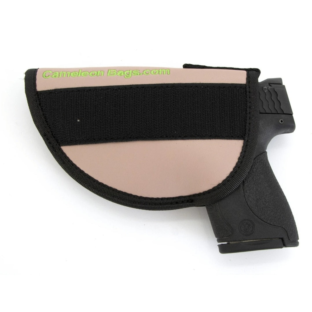 CCW Holster for weapon in pink with velcro