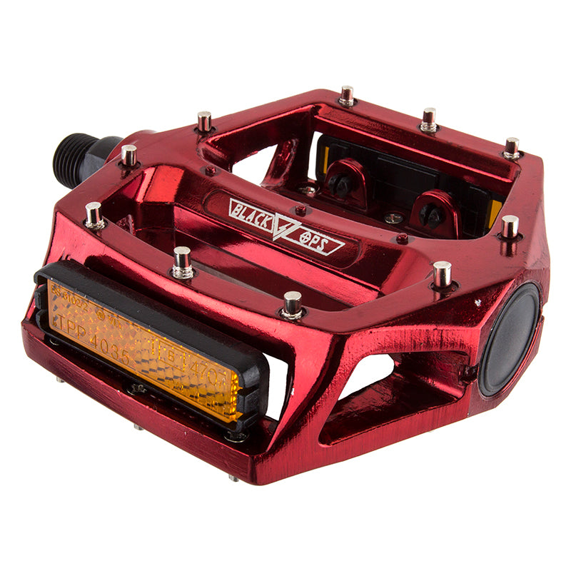 PEDALS BK-OPS PLATFORM ALY CRMO 9/16 RD-ANO