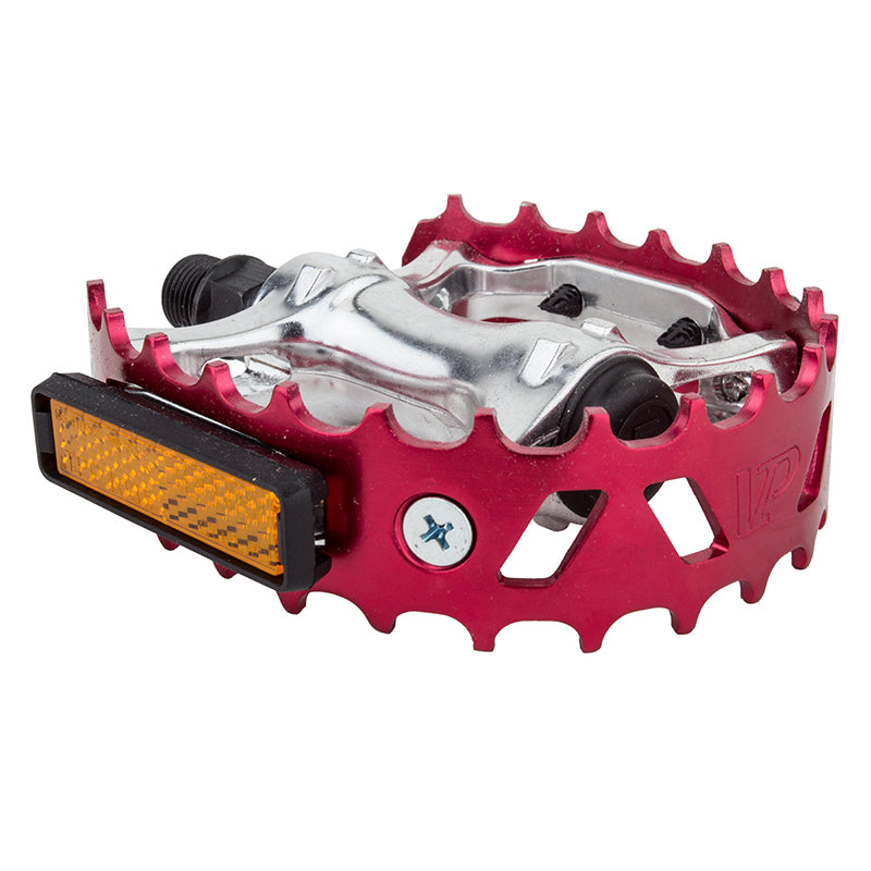 PEDALS BK-OPS MX BEARTRAP 9/16 ANO-RD