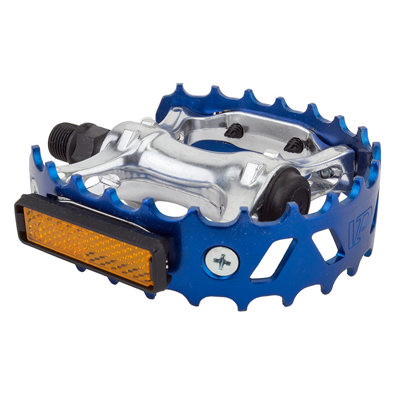 PEDALS BK-OPS MX BEARTRAP 9/16 ANO-BU