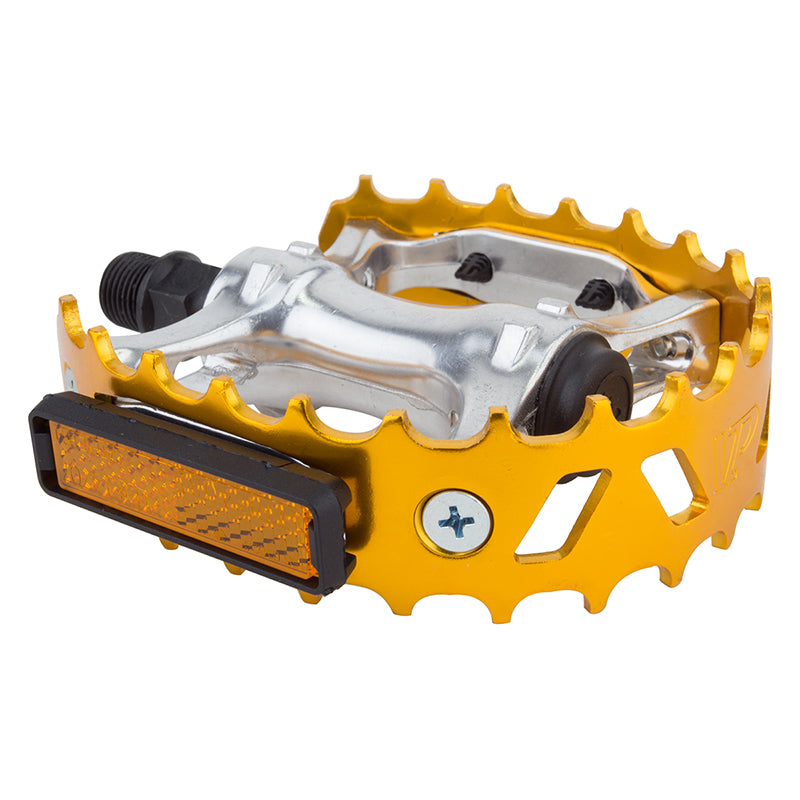 PEDALS BK-OPS MX BEARTRAP 9/16 ANO-GD