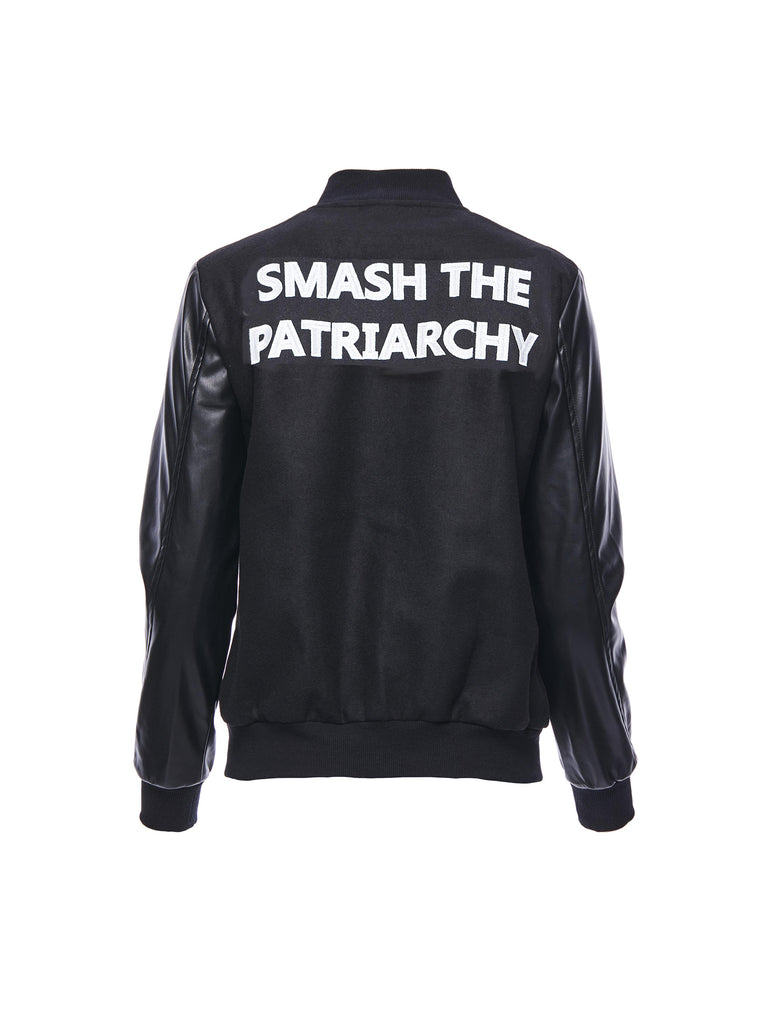 SMASH THE PATRIARCHY Varsity Jacket
