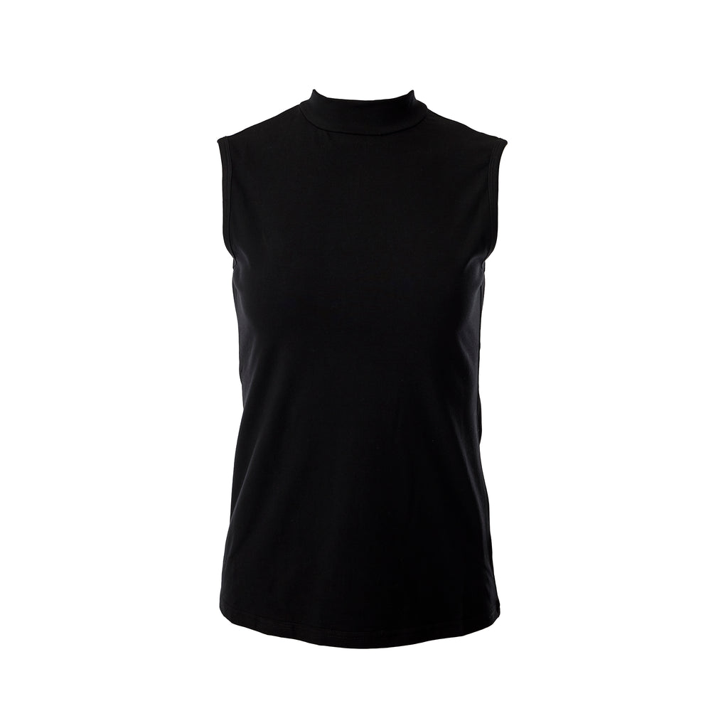 Mock Neck Sleeveless Turtleneck