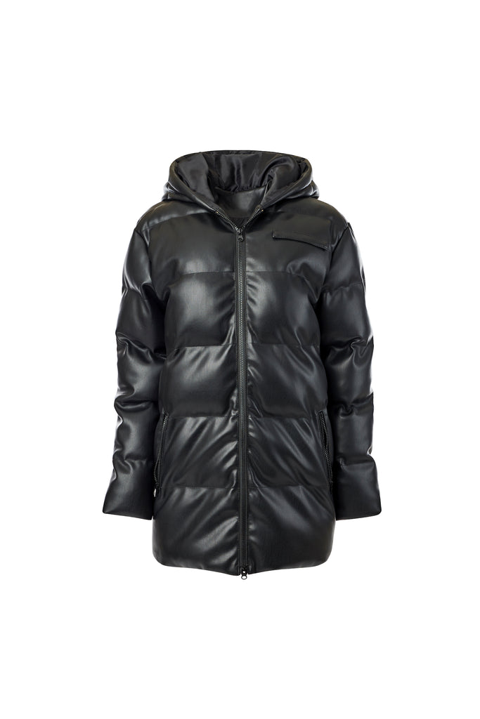 Faux Leather Puffer