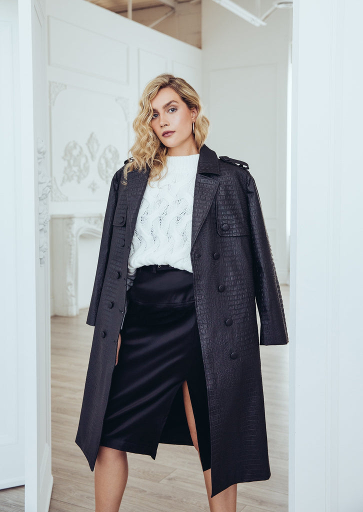 Faux Croc Trench