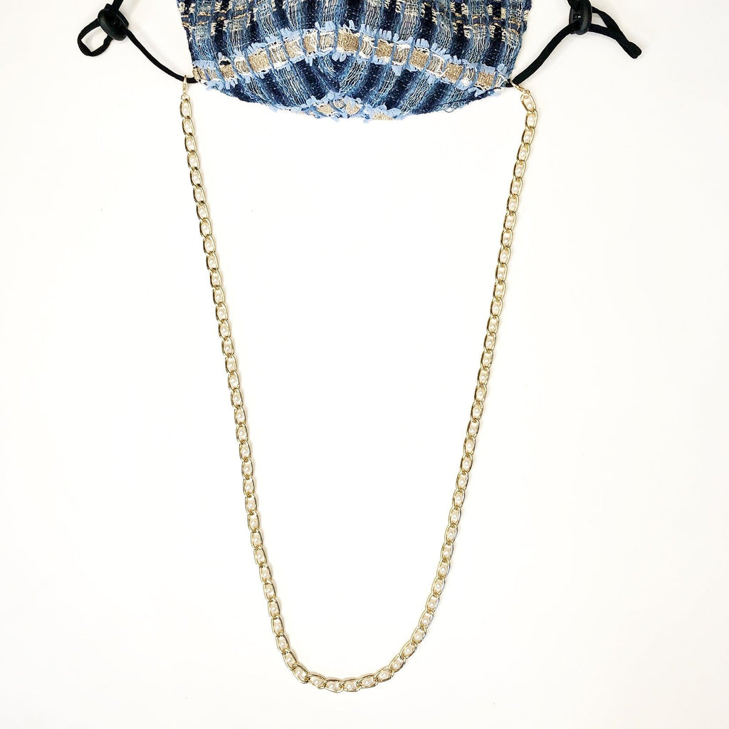Chain Link Pearl Mask Chain