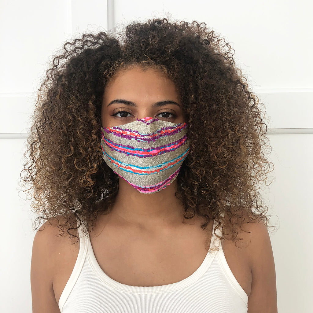 Neon Stripe Mask