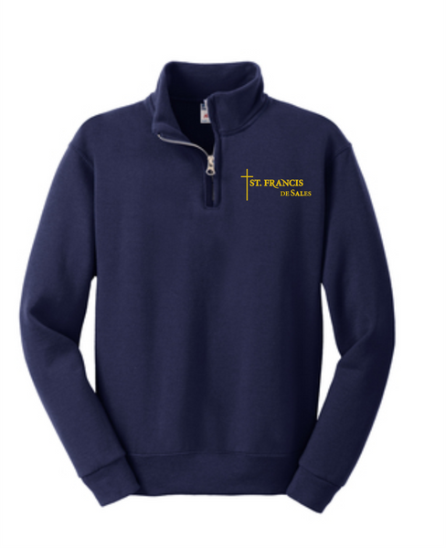 St. Francis Youth 1/4-Zip Cadet Collar Sweatshirt   **UNIFORM APPROVED**