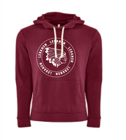 Hooded sweatshirt, maroon ADULT ONLY