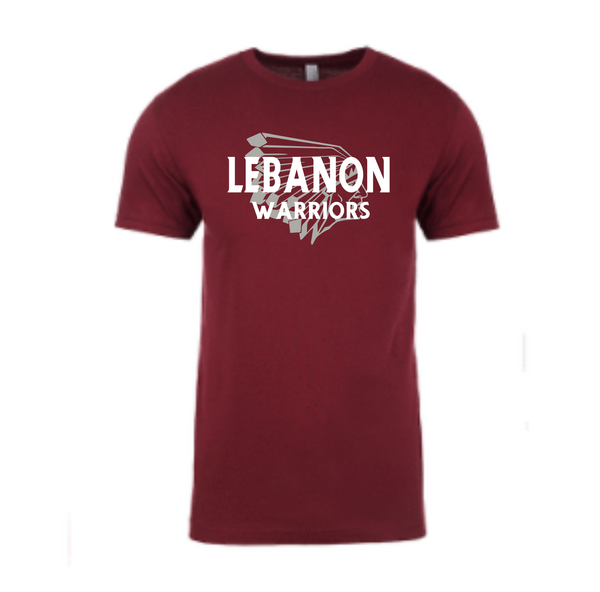 Maroon T shirt with Warriorhead
