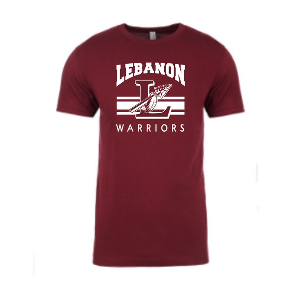 Maroon T shirt with Lspear