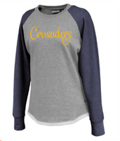 St. Francis navy and gray crewneck