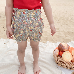Summer Floral Cotton Shorts