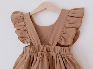 Ruffled Shoulder Pinafore Dress