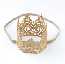 Load image into Gallery viewer, Golden Crown Headband
