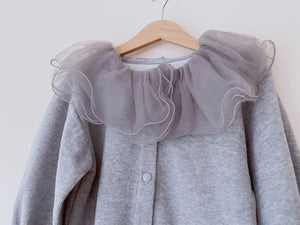 Little Lady Grey Collar Top