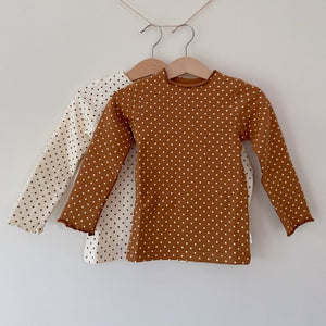 Dotty Skivvy Cotton Top