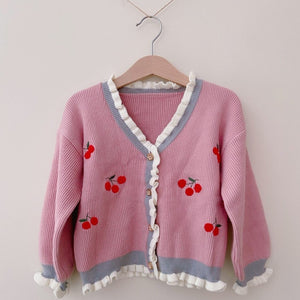 Frilly Cherry Cardigan