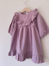 Load image into Gallery viewer, Lavender Ruffle Dress