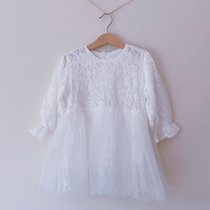 Snowy Rose Tulle Dress