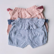 Load image into Gallery viewer, Frilly Tassel Cotton Shorts