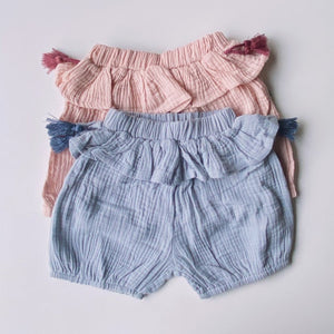 Frilly Tassel Cotton Shorts