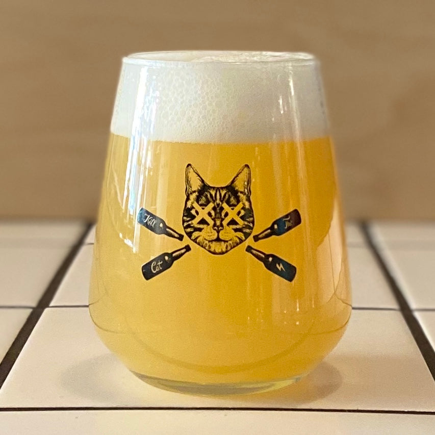 Kill The Cat Branded Glass