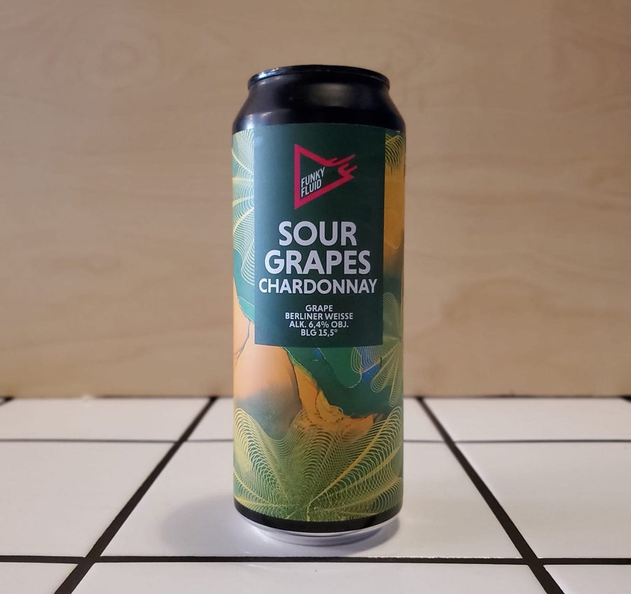Funky Fluid, Sour Grapes Chardonnay, Berliner Weisse, 6.4%