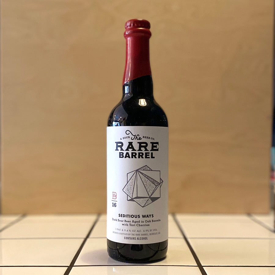 The Rare Barrel, Seditious Ways (2019), Dark Sour Ale, 6.9%
