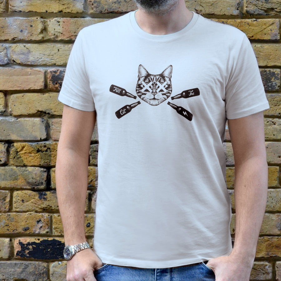 Vintage White Kill The Cat T-Shirt