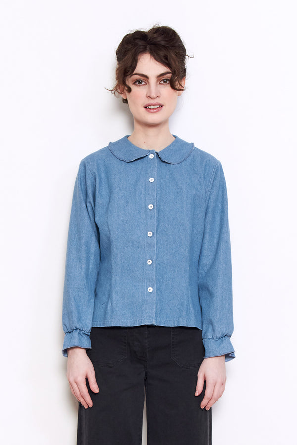 Loup Krasner Top in Light Indigo