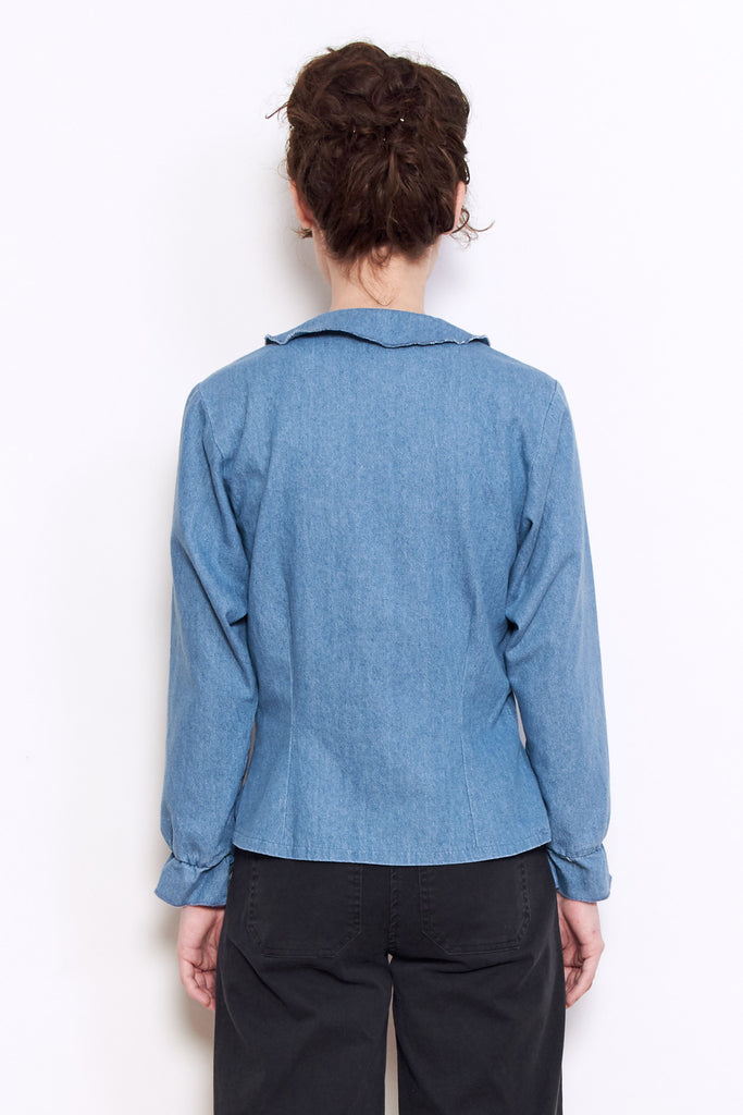 Loup Krasner Top in Light Indigo available at Personnel of New York