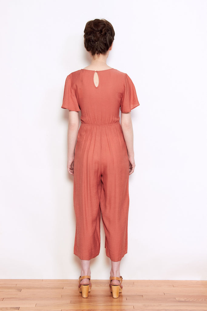 Personnel of New York, Persons Amelia Tie Jumpsuit in Terracotta