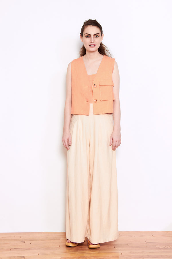 Paloma Wool Sabrina Vest in Light Peach