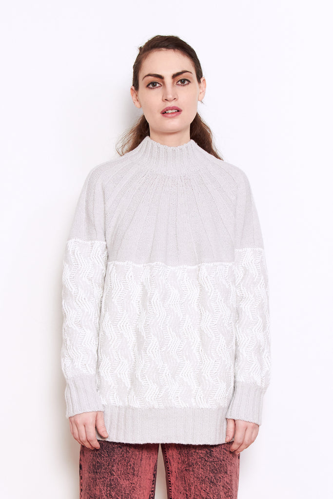 Rachel Comey Bowen Sweater in Grey available at Personnel of New York