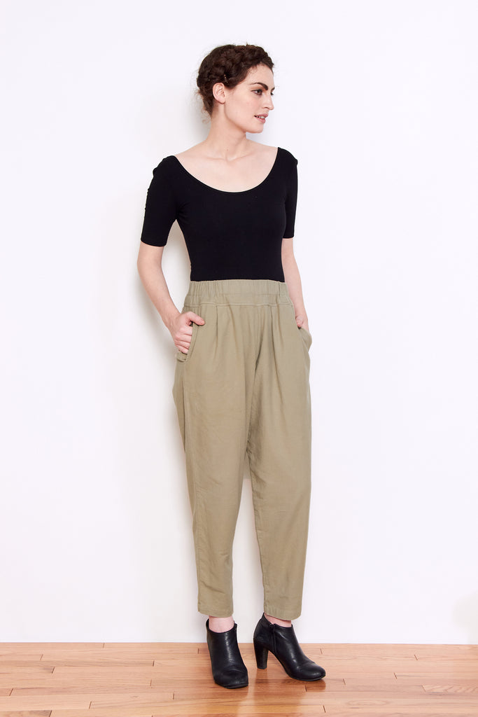 Black Crane Carpenter Pant in Ash available at Personnel of New York