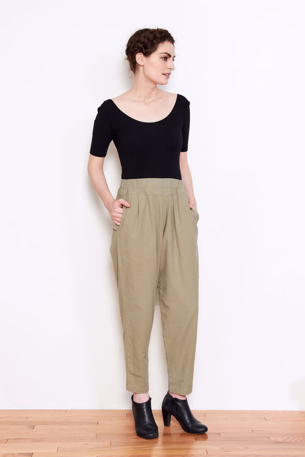 Black Crane Carpenter Pant in Ash