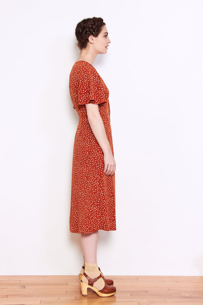 Persons Corrina Button Up Dress in Sienna available at Personnel of New York