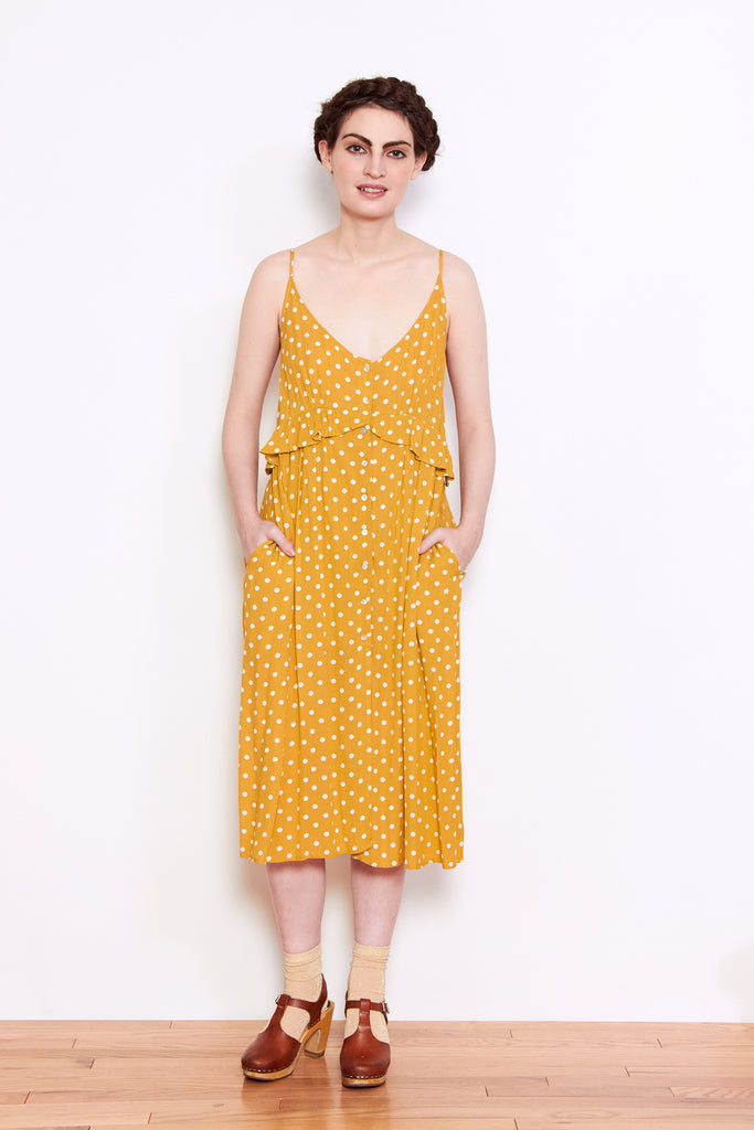 Persons Dottie Dress in Butter available at Personnel of New York