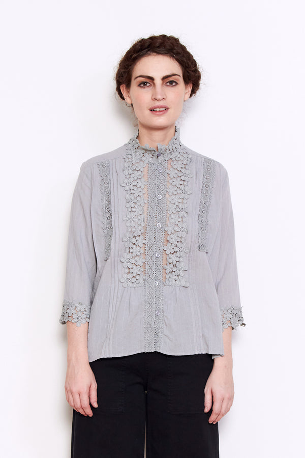 Shale Mare Grizelda Lacey Blouse in Grey