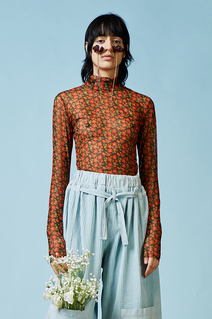 Henrik Vibskov Pollen Turtle Neck in Rust Flower available at Personnel of New York