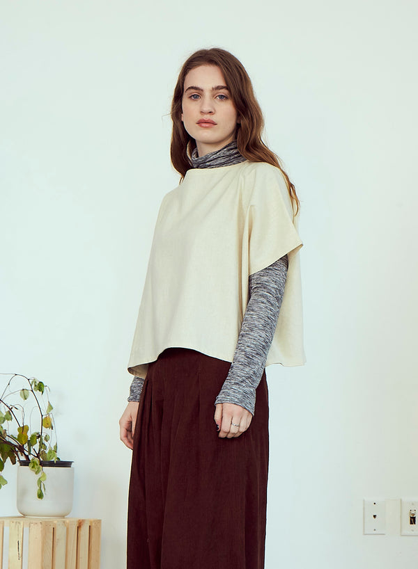 Rujuta Sheth Oversized Box Tee in Natural