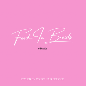 Feed In Braids - 6 Braids