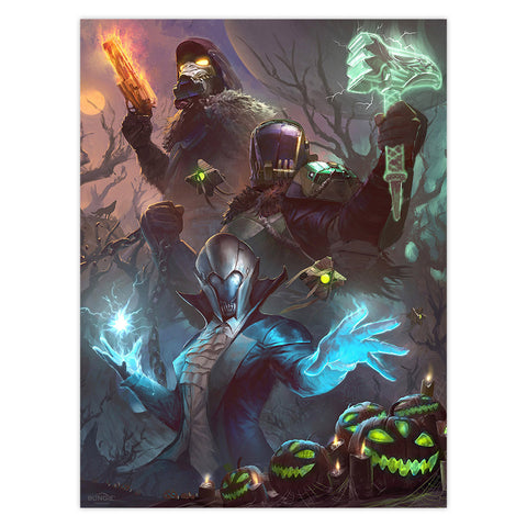 "PREORDER: ""Ghastly Guardians"" Poster by Clinton Felker"