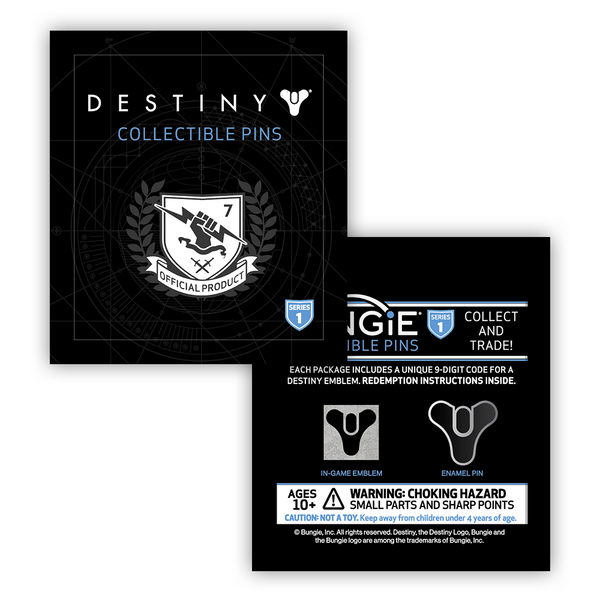 Destiny 2 Tricorn Collectible Pin With Emblem Bungie Store