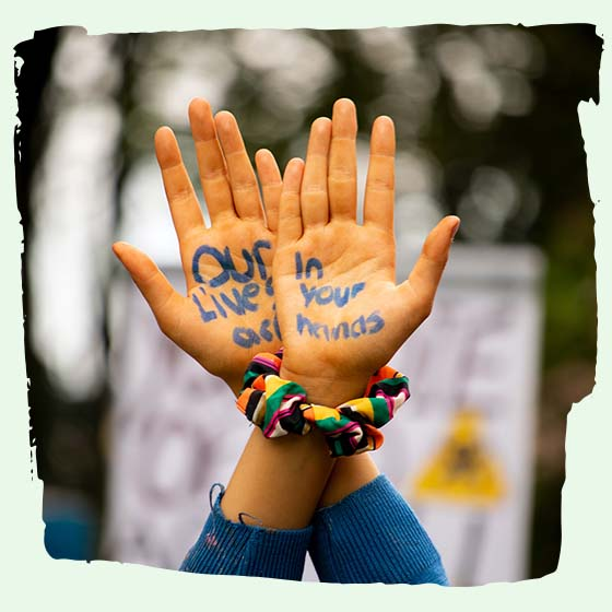 in our hands protest