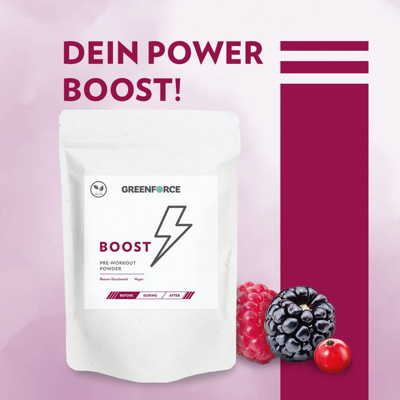 BOOST Pre-Workout Powder Beere
