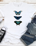 Butterflies in Blue - comfort fit short sleeve tee