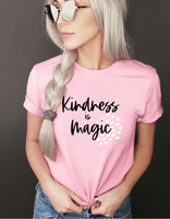 Kindness is Magic Tshirt - Bella Canvas soft comfort fit tee